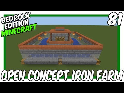 Open Concept Iron Farm Bedrock Edition Minecraft Project