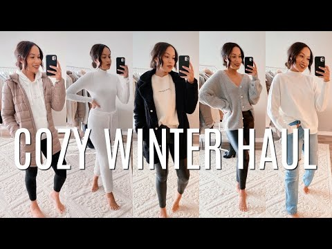 COZY WINTER CLOTHING TRY ON HAUL | Marie Jay