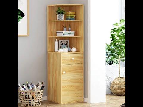 Modern Wooden 3 Tiers Bookshelf With Storage