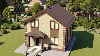 Проект дома 123-F, Площадь дома: 123 м2, Размер дома:  9,5x9,4 м