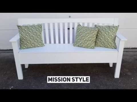 How To Make a Headboard Bench With Storage | Mission Style Bed