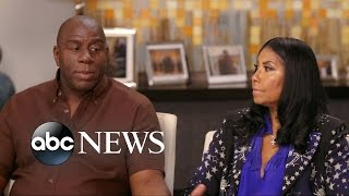 Magic Johnson and  Cookie on HIV Diagnosis, Their Gay Son