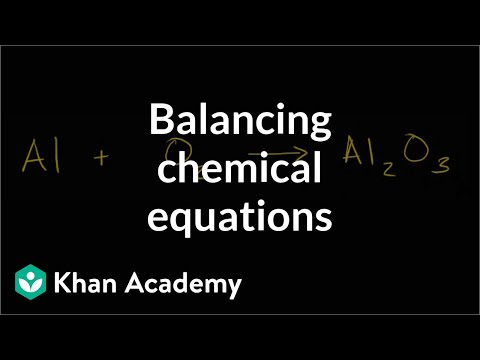 Balancing Chemical Equations How To Walkthrough Video Khan Academy
