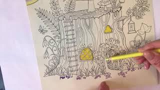 Tutorial 1 Johanna Basford Enchanted Forest Tree House