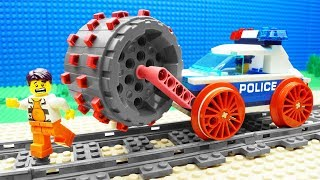 Lego Train Safe Steamroller Police Fail
