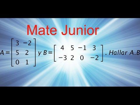 Multiplicación de matrices , ejercicio 1