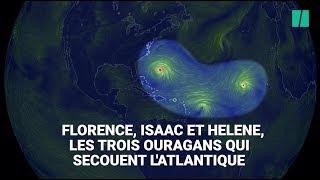 Les images impressionnantes de Florence, Isaac et Helene, les trois ouragans en Atlantique