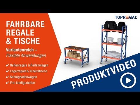 ✅ Fahrbare Regale & Tische Produktvideo - individuell konfigurierbar - 500kg Belastung - TOPREGAL