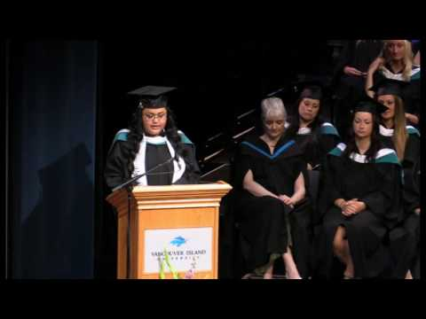 Valedictorian speech - June 6, 2016 - Vancouver Island University convocation