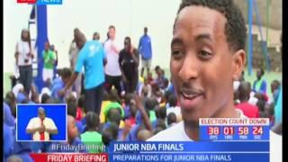 Chicago Bulls slam dunkers visit Makini School in preparations for junior NBA finals