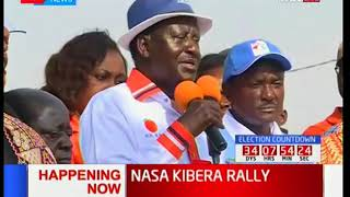 NASA presidential candidate Raila Odinga refers to Chairman Wafula Chebukati's internal memo