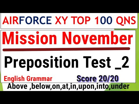 #7 Mission November Preposition imp Qns by Ramsir