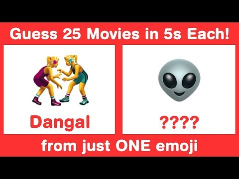 Bollywood Rapid Fire Emoji Challenge - Guess Movies in 3s from 1 Emoji
