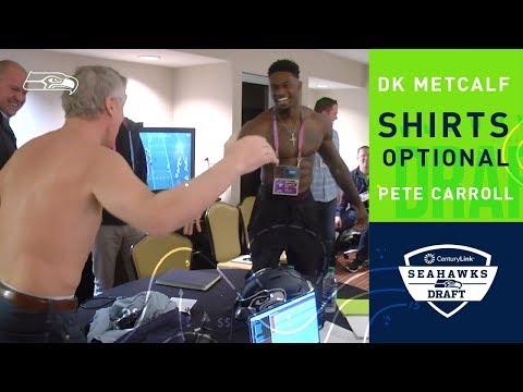 Pete Carroll & D.K. Metcalf Go Shirtless | Seattle Seahawks