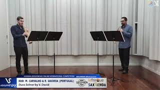 DUO M. CARVALHO & R. GOUVEIA play Duos Selmer by V. David #adolphesax
