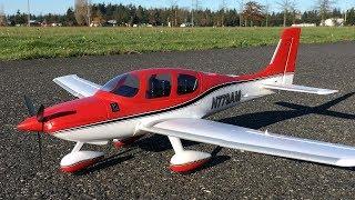 E-flite UMX Cirrus SR22T BNF Basic with SAFE Select Maiden Flight