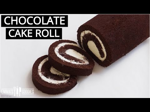 THE BEST Chocolate Cake Roll! Chocolate Swiss Roll Recipe