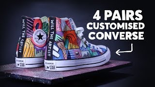 All Star Converse Customisation ⚡️#customisation #converse