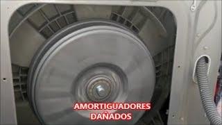 LAVADORA LG  CARGA FRONTAL HACE MUCHO  RUIDO  EN EL CENTRIFUGADO  /SOLUCIÓN