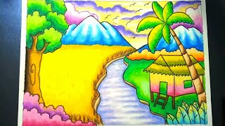 Cara Mewarnai Pemandangan Gunung ฟรวดโอออนไลน ดทวออนไลน