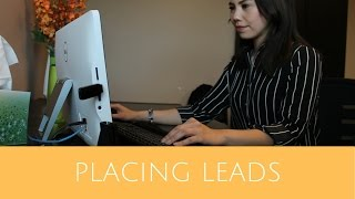 Lead generation placing a lead phone call