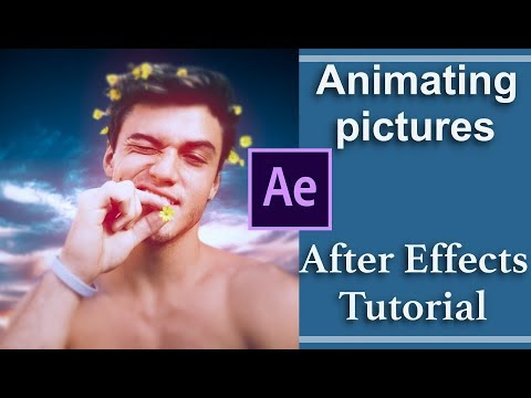 animate pictures (puppet pin tool) | after effects tutorial