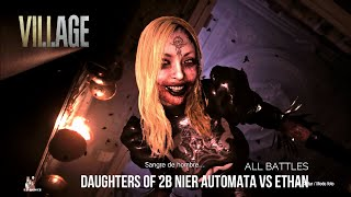 Daughters of 2B Nier Automata Vs Ethan ALL BATTLES