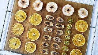 Как сушить АПЕЛЬСИНЫ для декора? ☆ Фруктовые ЧИПСЫ: бананы, яблоки, киви
