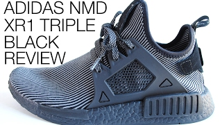 f02671f043bb3 Adidas NMD XR1 Triple Black with Black Boost Review + On Feet