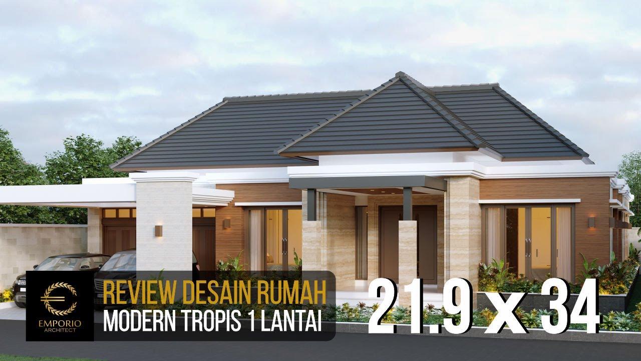Video 3D Desain Rumah Villa Bali Modern 1 Lantai Bapak Anwar di Aceh