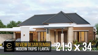 Video Mr. Anwar Villa Bali Modern House 1 Floor Design - Aceh