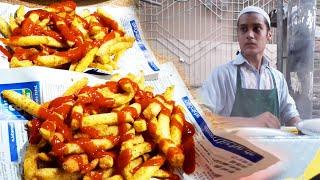 14 Years Old Kid Selling French Fries | Afghani Fries | Street Food Aloo Chips in Karachi Pakistan