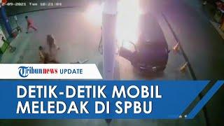 POPULER: Diduga Gara-gara HP, Sebuah Mobil Semburkan Api dan Meledak di SPBU saat Isi BBM
