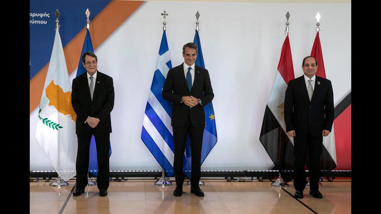 🔴LIVE: Δήλωσεις ηγετών μετά  την 9η Τριμερή Σύνοδο Κορυφής Ελλάδος – Κύπρου – Αιγύπτου