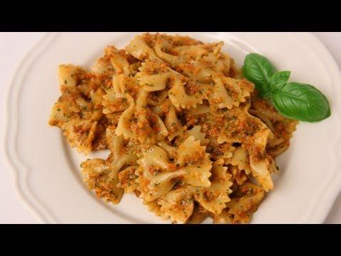 Bowties with Sun Dried Tomato Pesto Recipe – Laura Vitale – Laura in the Kitchen Episode 408