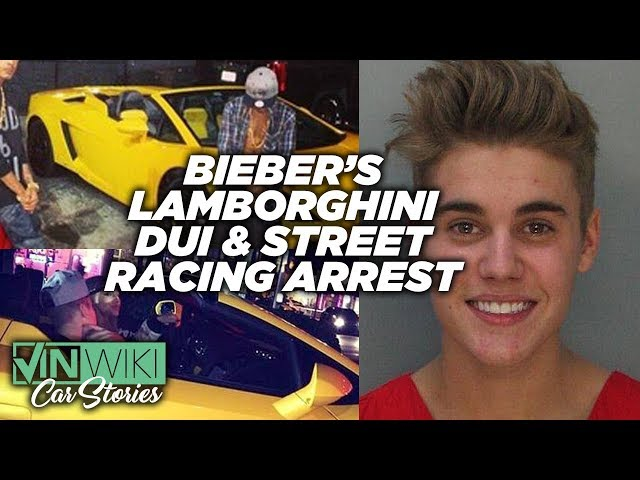 Justin Bieber got a DUI street racing in my Lamborghini