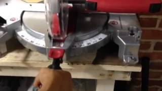 How to use a Skil Saw Compound Miter saw - Cutting the wood!