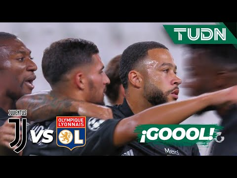 ¡GOOL! Depay sorprende a la Juve  | Juventus 0-1 Lyon | Champions League 2020 – Octavos final | TUDN