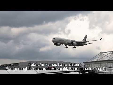 Geçici Yapılar İçin Mükemmel Havalandırma I Farnborough Havacılık Fuarı'nda Kumaş Kanal Sistemi