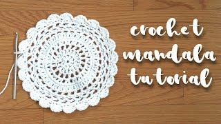 Crochet Mandala Tutorial // Crochet Circle Pattern