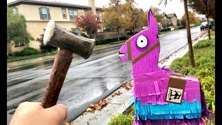 Fortnite Toys LLama Drama Loot Pinata filled w/ 20 Blind Bags! Rust Lord, Legendary Rocket Launcher