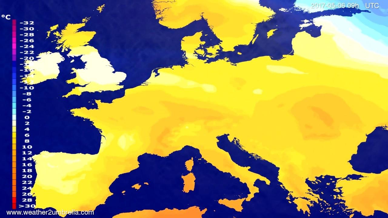 Temperature forecast Europe 2017-05-02