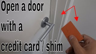 How to open a door with a credit card / shims - Life hack