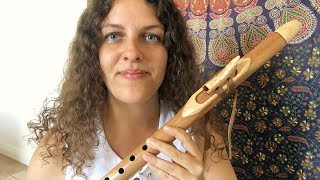 How to Play Native American Flute   Easy Beginner Lesson (F Love Flute Southern Cross Flutes)