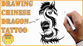 Chinese Dragon Tattoo Drawing | Chinese Tattoos