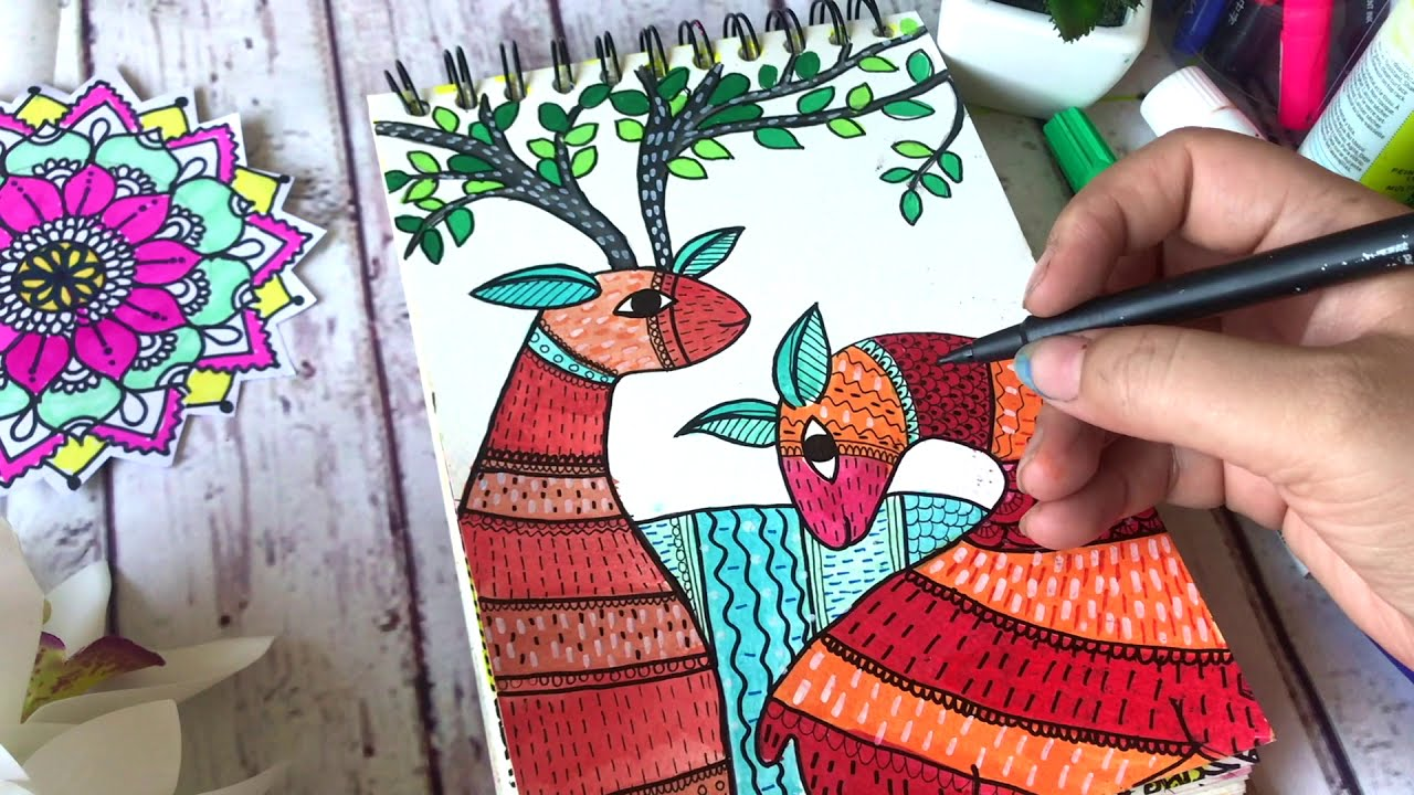 gond painting tutorial by art geek