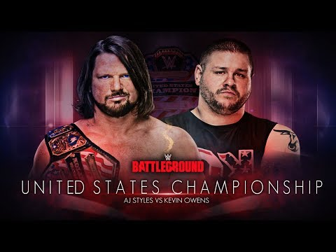 WWE Battleground 2017 - AJ Styles vs Kevin Owens (United States Championship)