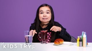 Kids Try Halloween Foods from Around the World | Kids Try | HiHo Kids