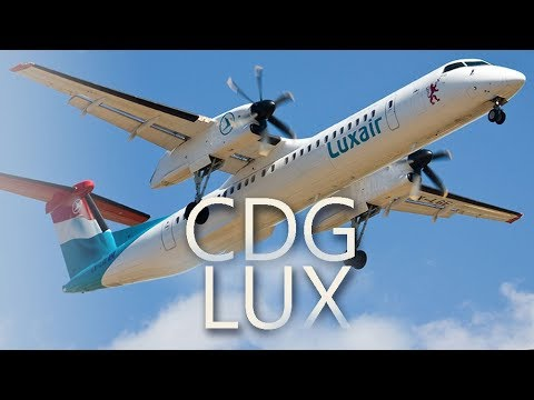 Luxair Luxembourg Airlines Bombardier Q400 Dash 8   CDG – LUX