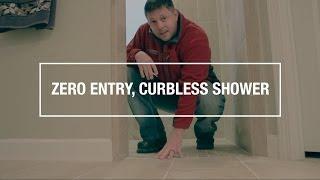 Zero Entry, Curbless Shower Bathroom Remodel - Destin, FL